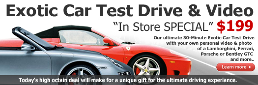 Exotic Car Test Drive - Toronto Car Rental Promotion
